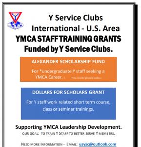 YMCA Staff Training Grants